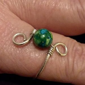 """""""World Peace"""" Silver Wire Wrapped Ring"""